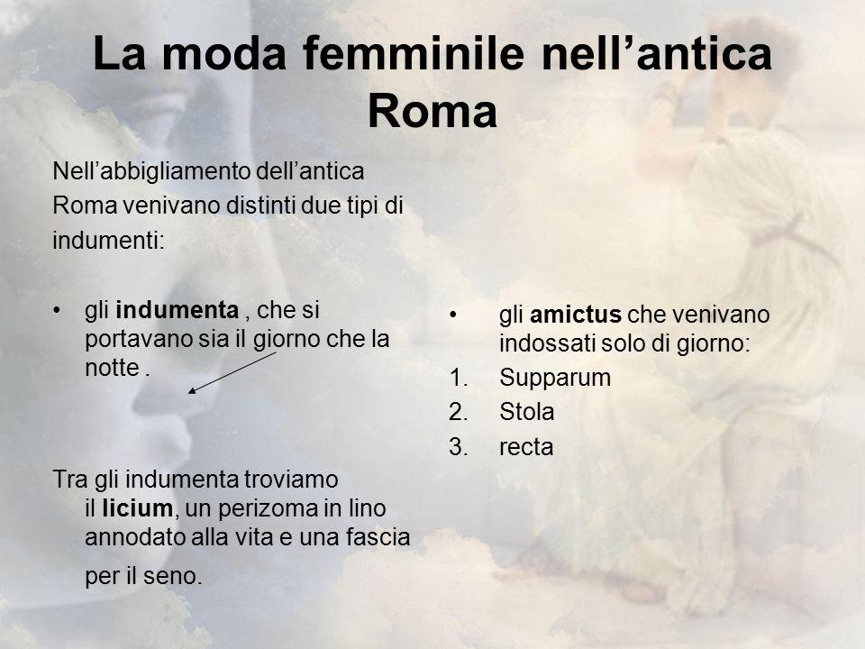 La moda femminile nell'antica Roma