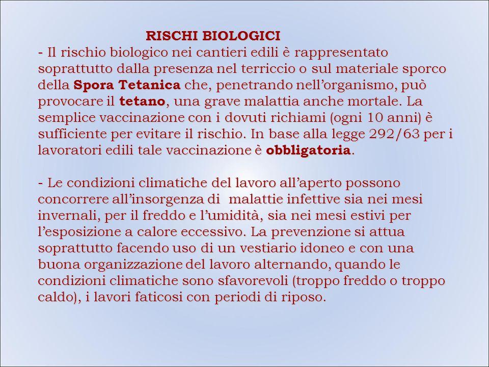 RISCHI BIOLOGICI