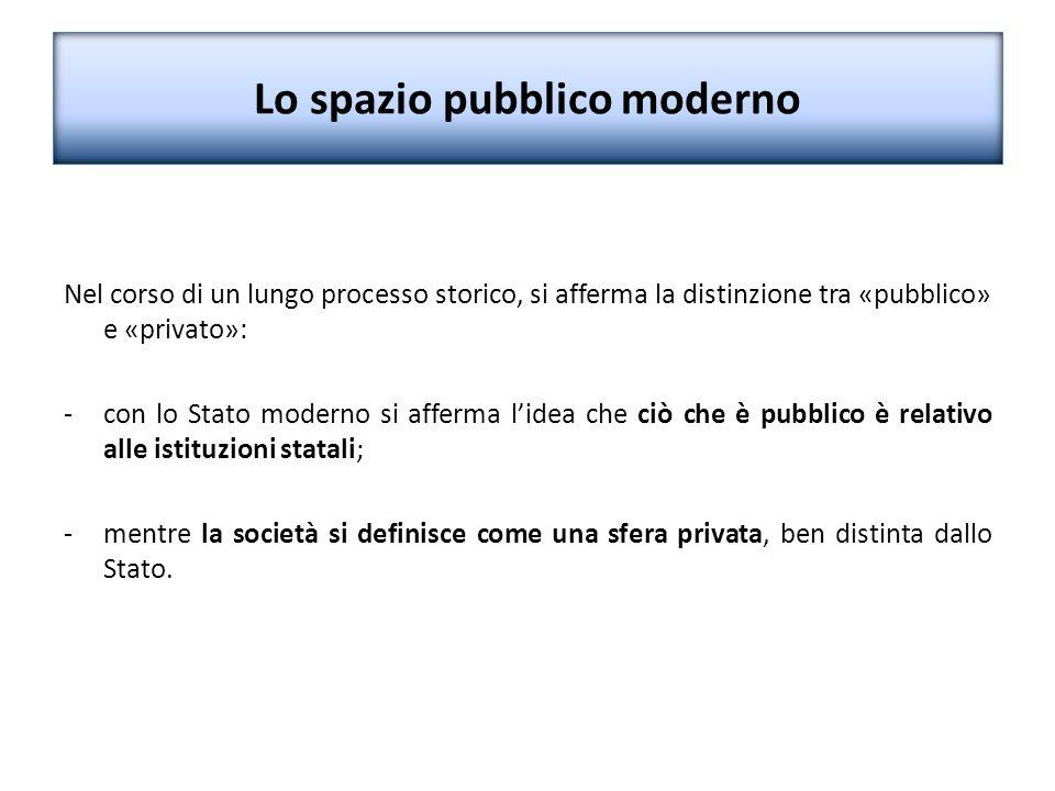 Lo spazio pubblico moderno