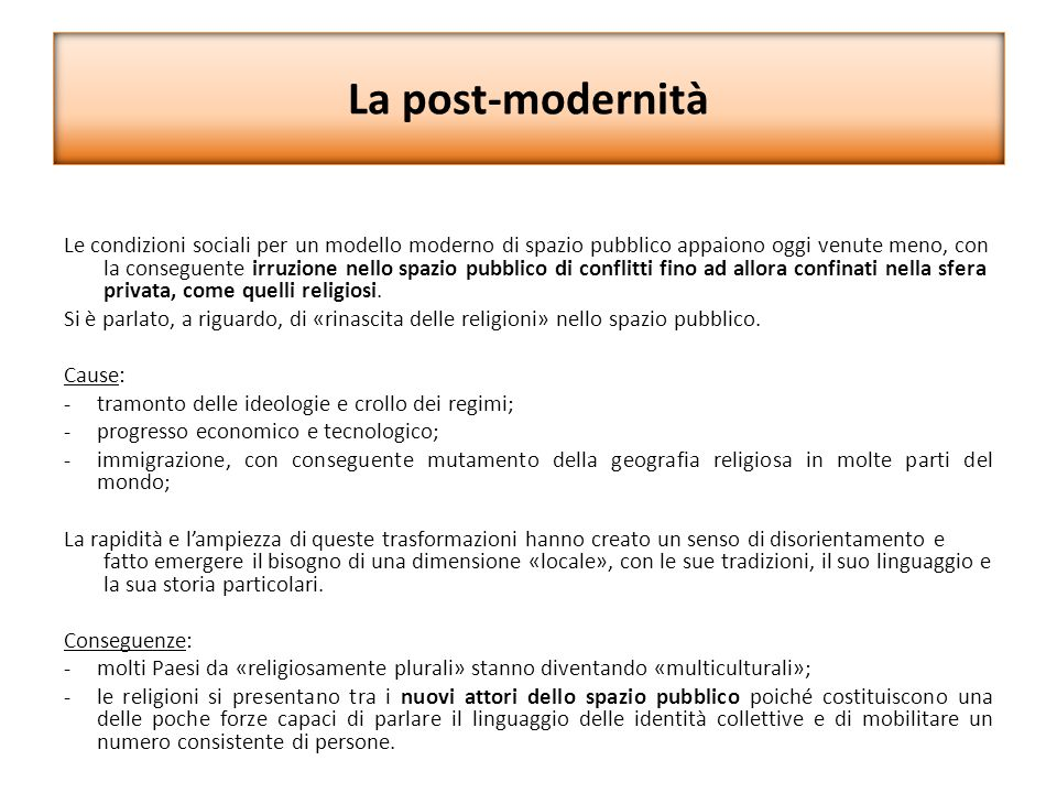 La post-modernità