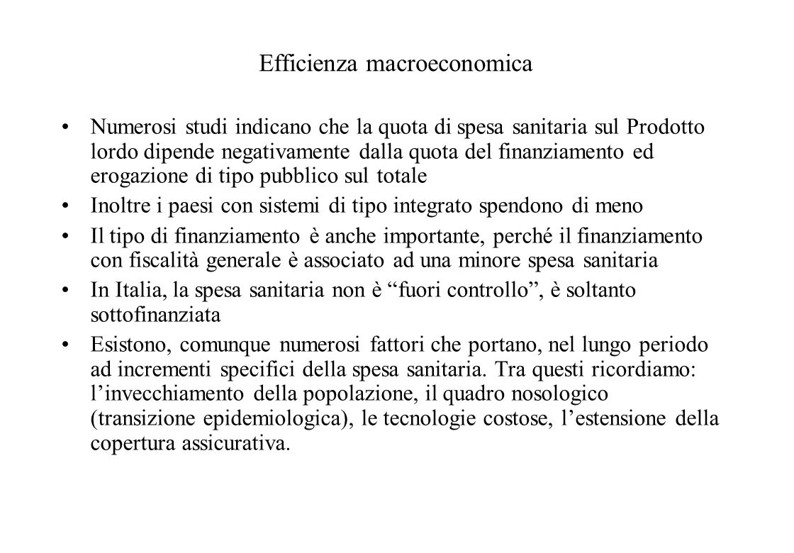 Efficienza macroeconomica