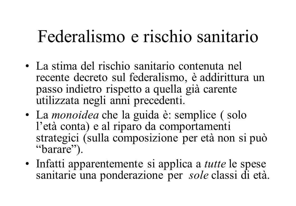 Federalismo e rischio sanitario