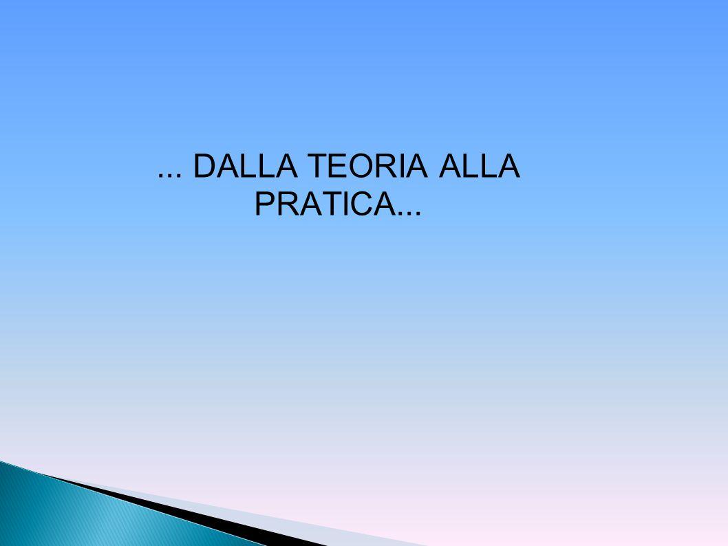 ... DALLA TEORIA ALLA PRATICA...