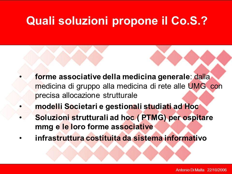 Quali soluzioni propone il Co.S.