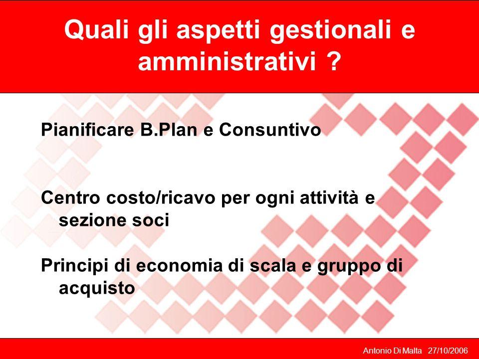 Quali gli aspetti gestionali e amministrativi