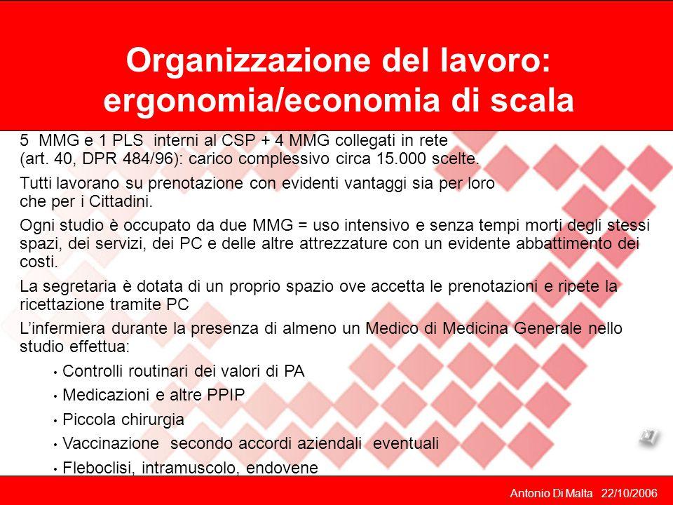 Organizzazione del lavoro: ergonomia/economia di scala