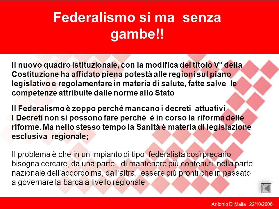 Federalismo si ma senza gambe!!