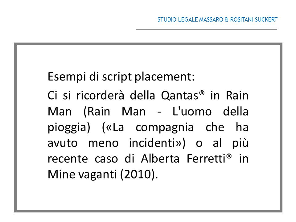 Esempi di script placement: