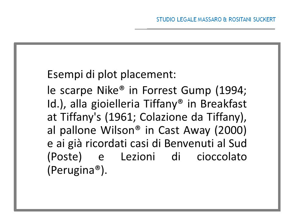 Esempi di plot placement: