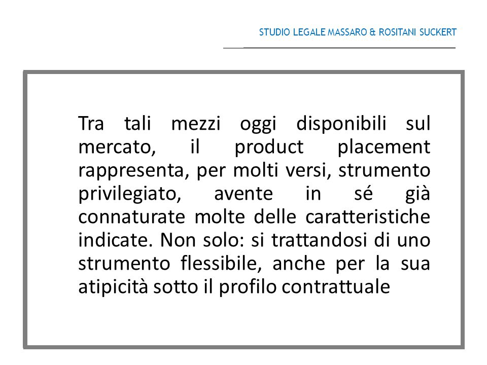 STUDIO LEGALE MASSARO & ROSITANI SUCKERT