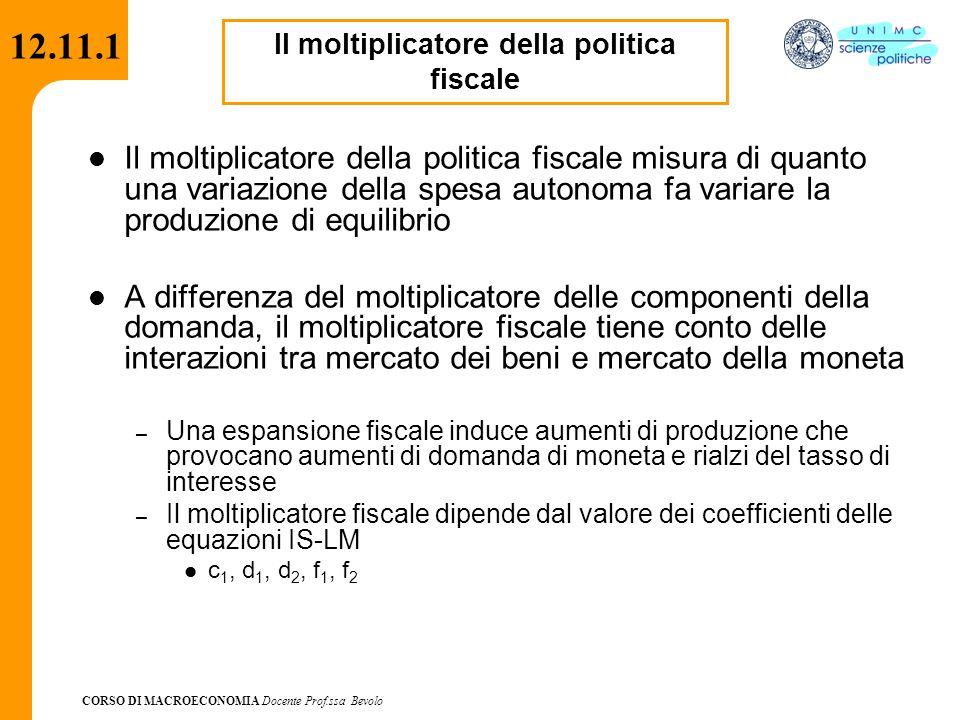 Il moltiplicatore della politica fiscale