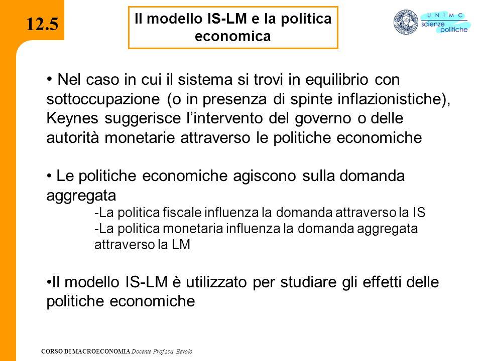 Il modello IS-LM e la politica economica