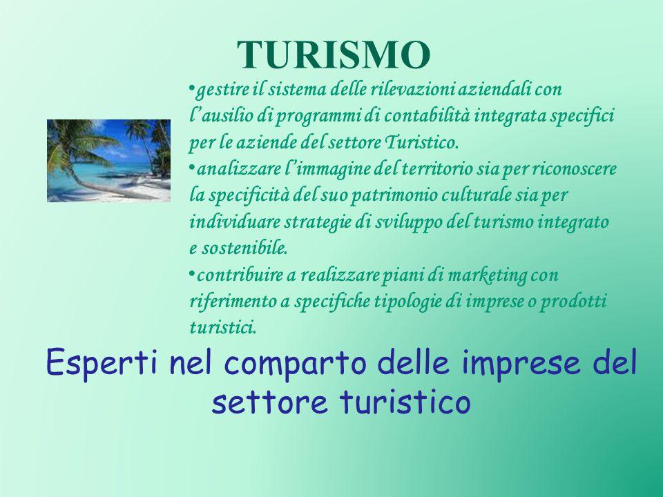 Esperti nel comparto delle imprese del settore turistico