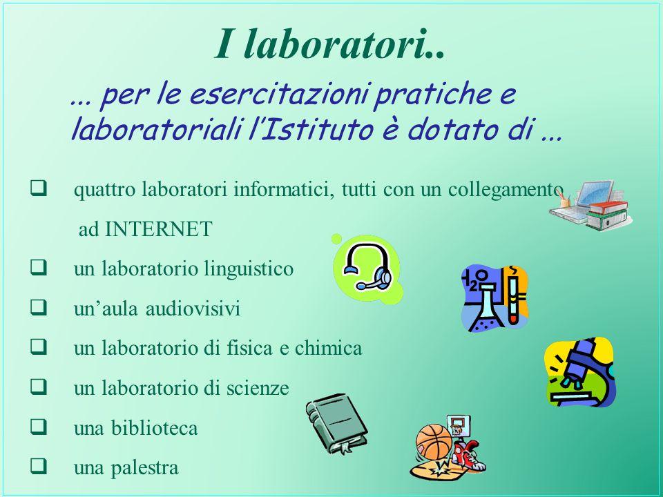 I laboratori.. ... per le esercitazioni pratiche e laboratoriali l'Istituto è dotato di ...