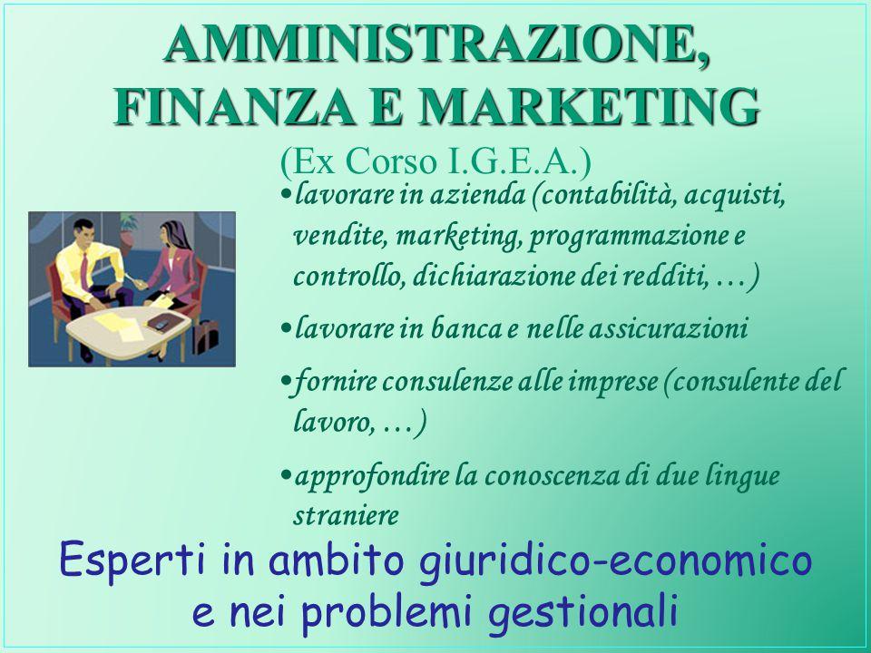 AMMINISTRAZIONE, FINANZA E MARKETING (Ex Corso I.G.E.A.)