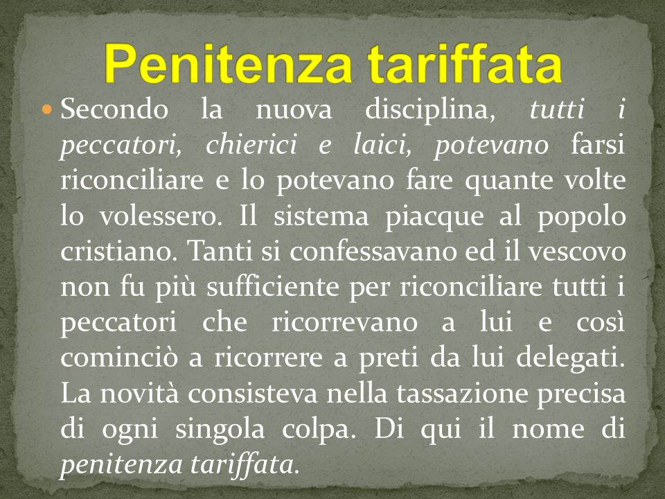 Penitenza tariffata