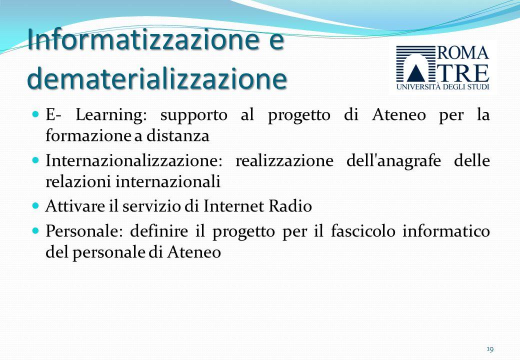 Informatizzazione e dematerializzazione