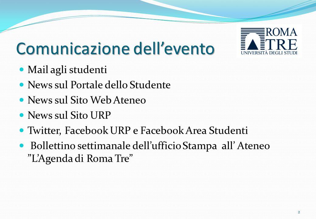 Comunicazione dell'evento