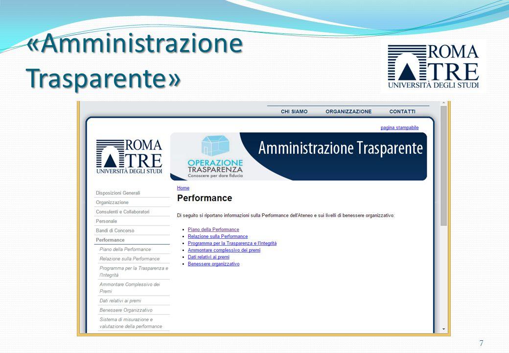 «Amministrazione Trasparente»