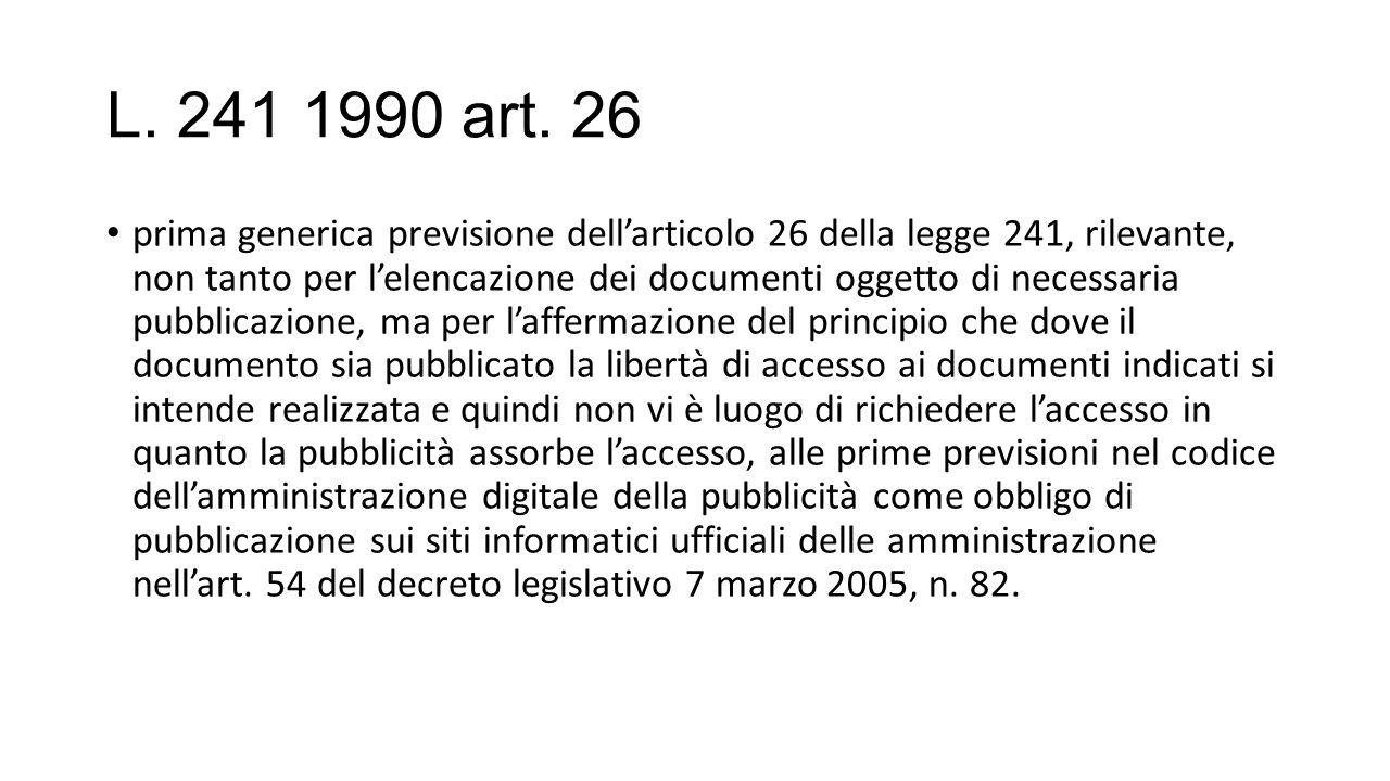 L. 241 1990 art. 26