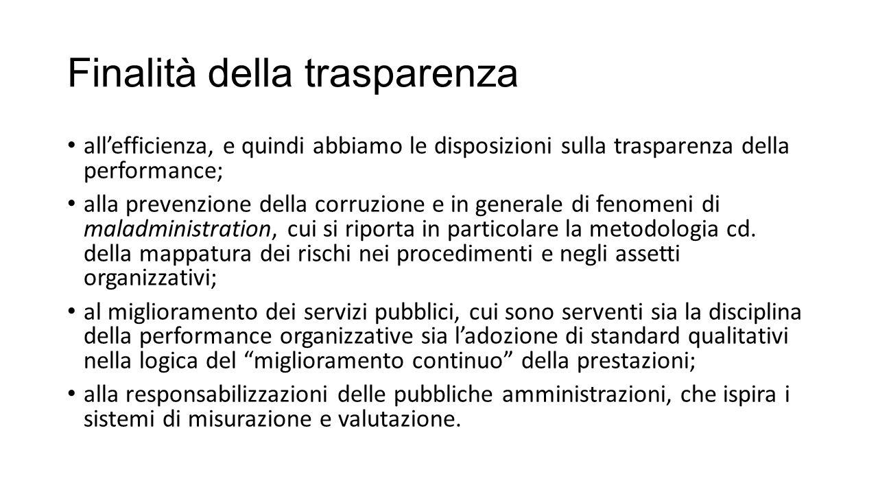 Finalità della trasparenza