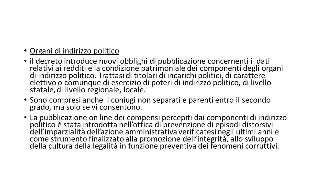 Organi di indirizzo politico