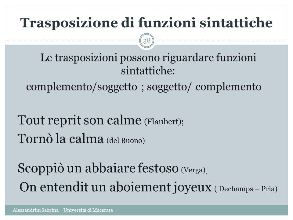 Trasposizione di funzioni sintattiche