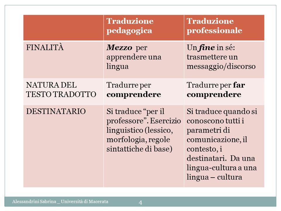 Traduzione pedagogica Traduzione professionale