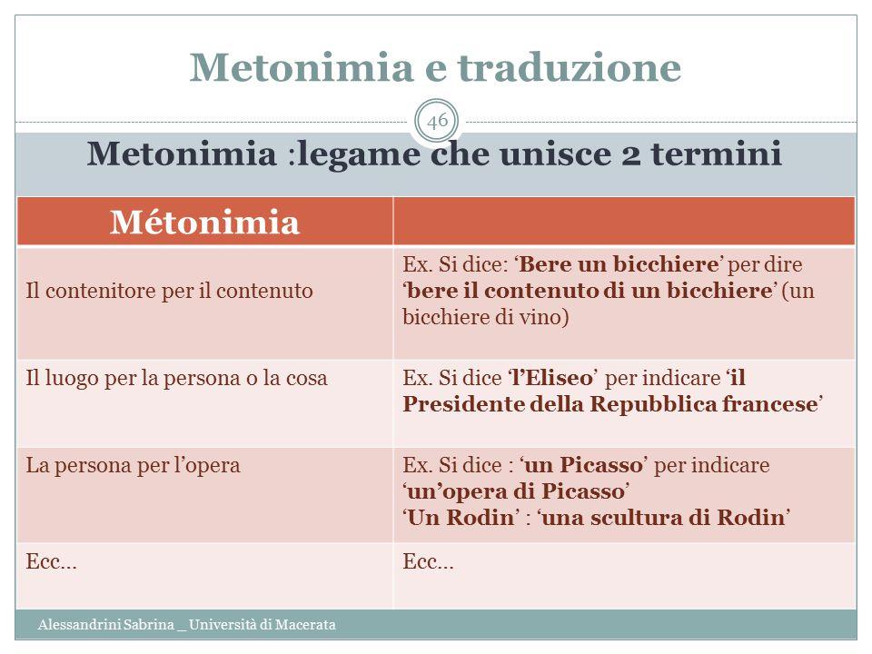 Metonimia e traduzione