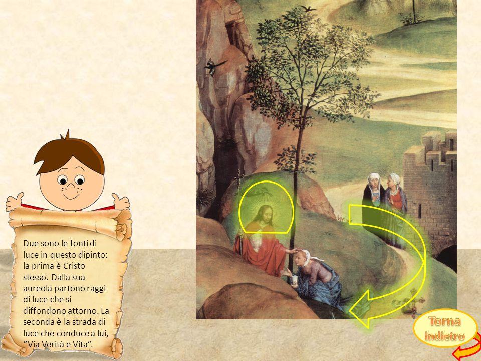 Due sono le fonti di luce in questo dipinto: la prima è Cristo stesso