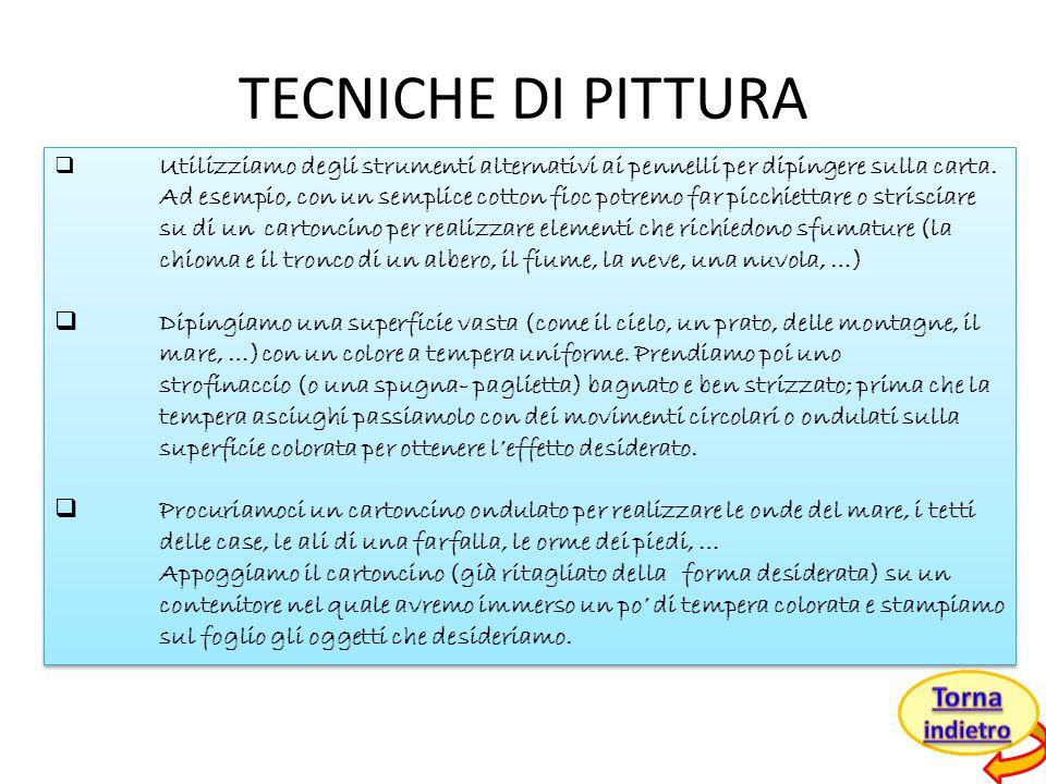 TECNICHE DI PITTURA Torna