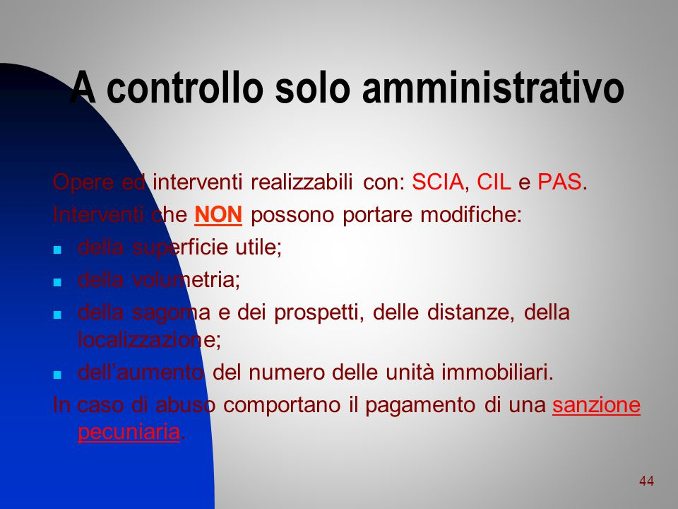 A controllo solo amministrativo