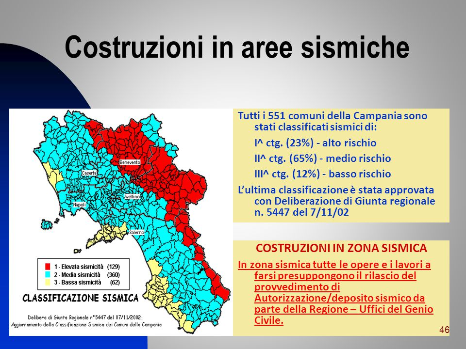 Costruzioni in aree sismiche