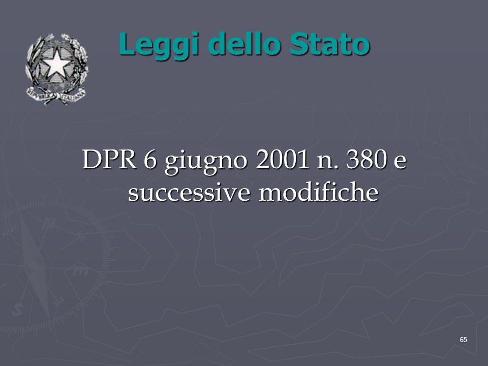 DPR 6 giugno 2001 n. 380 e successive modifiche