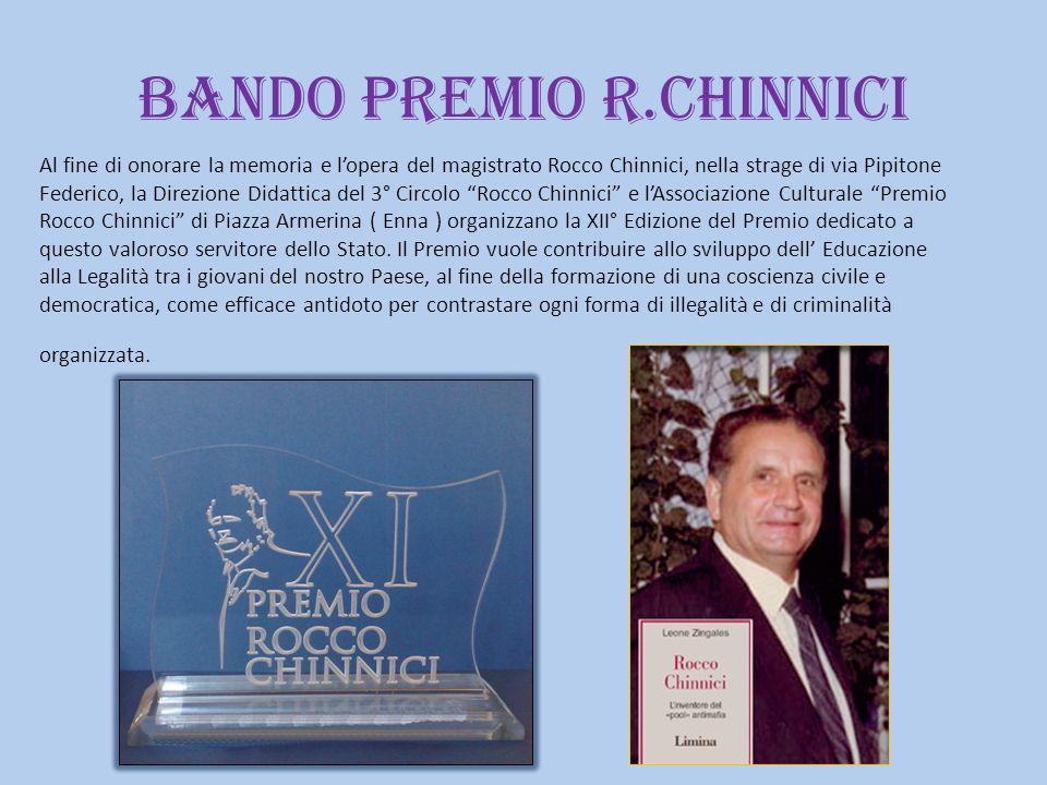BANDO PREMIO R.CHINNICI