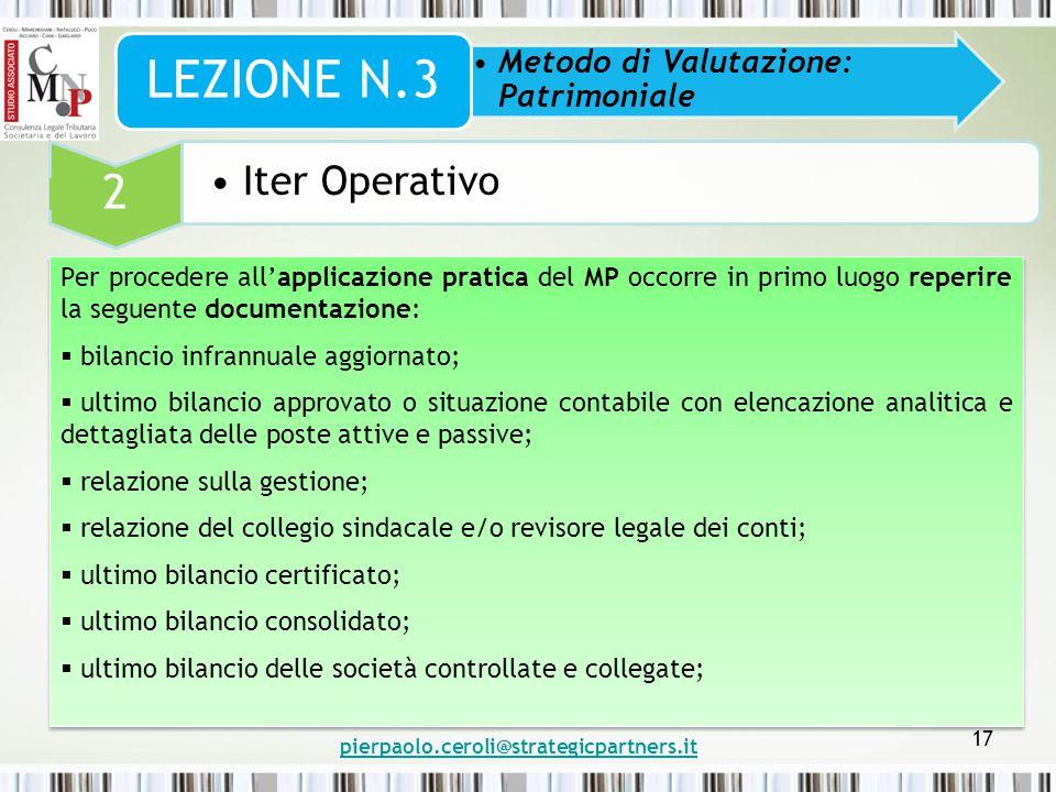 LEZIONE N.3 2 Iter Operativo