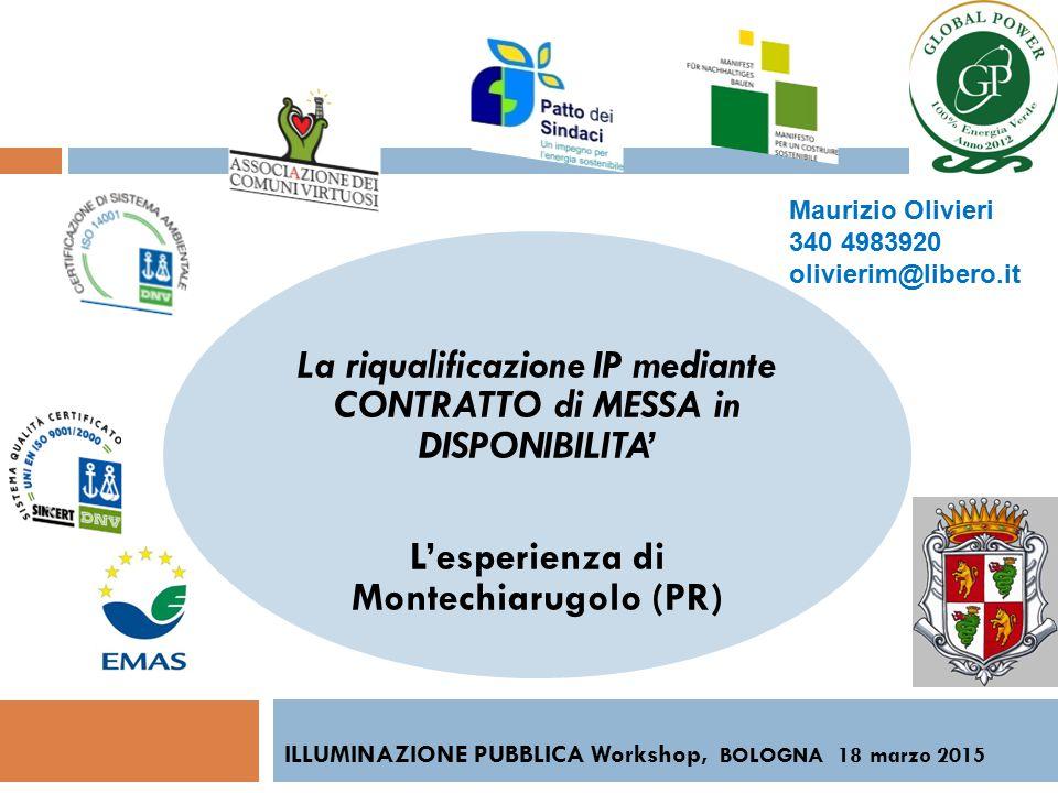 ILLUMINAZIONE PUBBLICA Workshop, BOLOGNA 18 marzo 2015