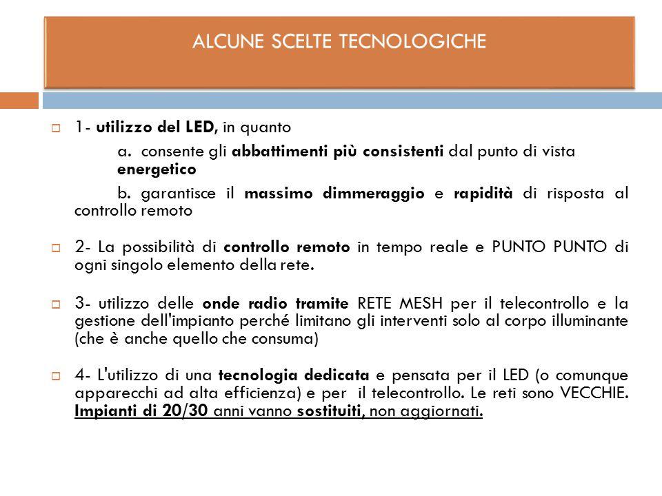 ALCUNE SCELTE TECNOLOGICHE