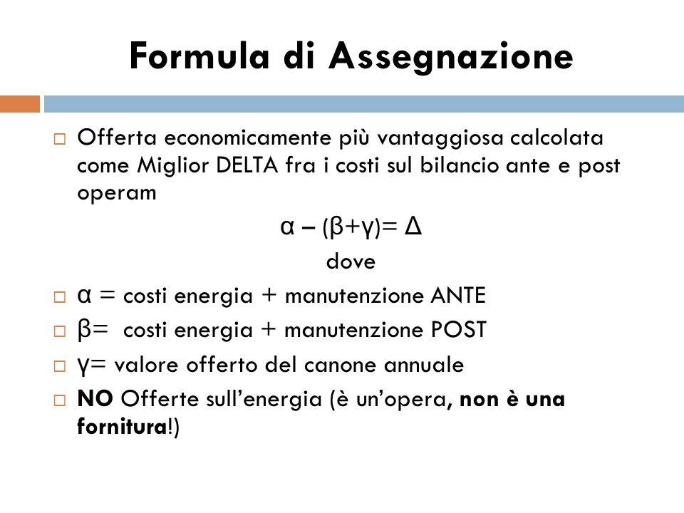 Formula di Assegnazione