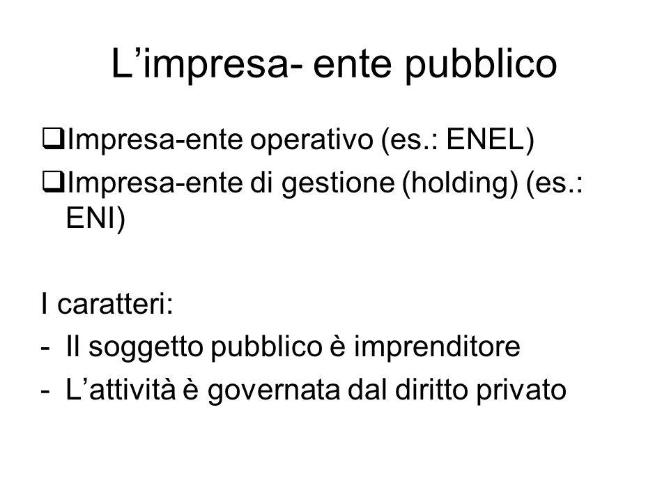 L'impresa- ente pubblico