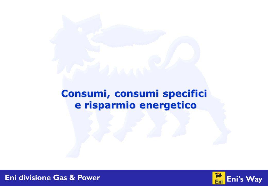 Consumi, consumi specifici e risparmio energetico