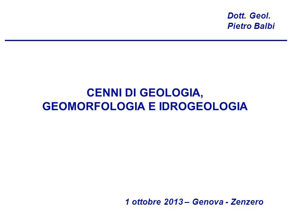 CENNI DI GEOLOGIA, GEOMORFOLOGIA E IDROGEOLOGIA