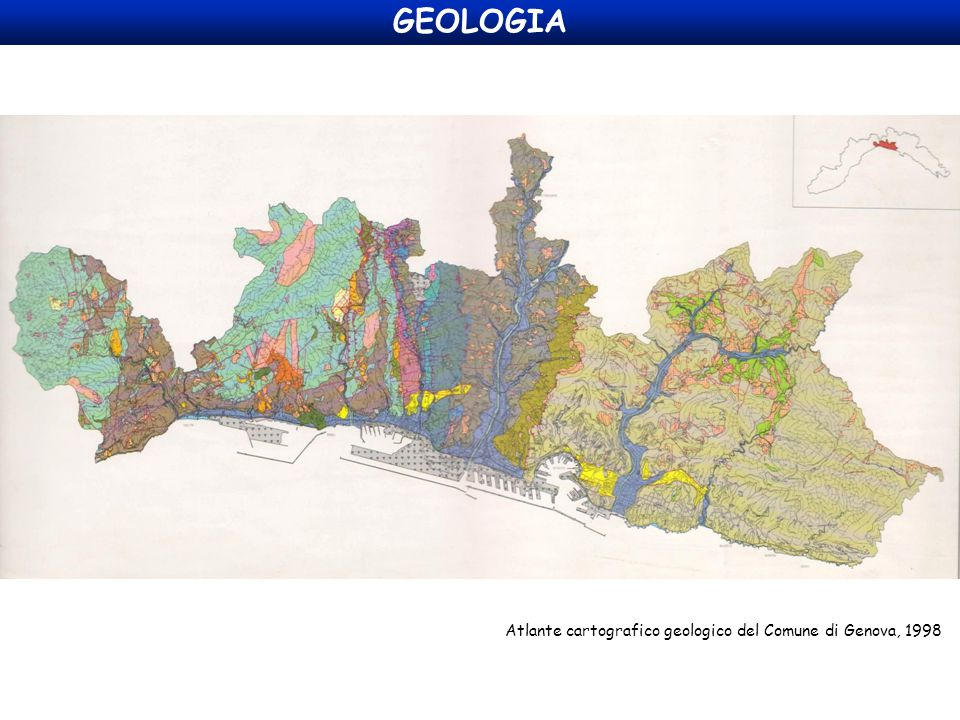 Atlante cartografico geologico del Comune di Genova, 1998