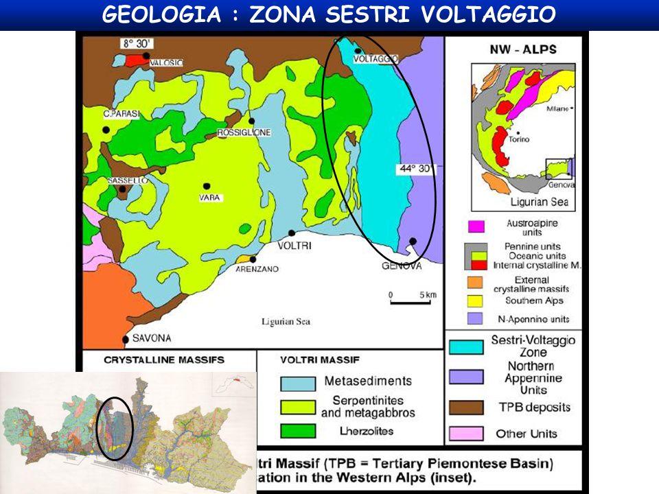 GEOLOGIA : ZONA SESTRI VOLTAGGIO