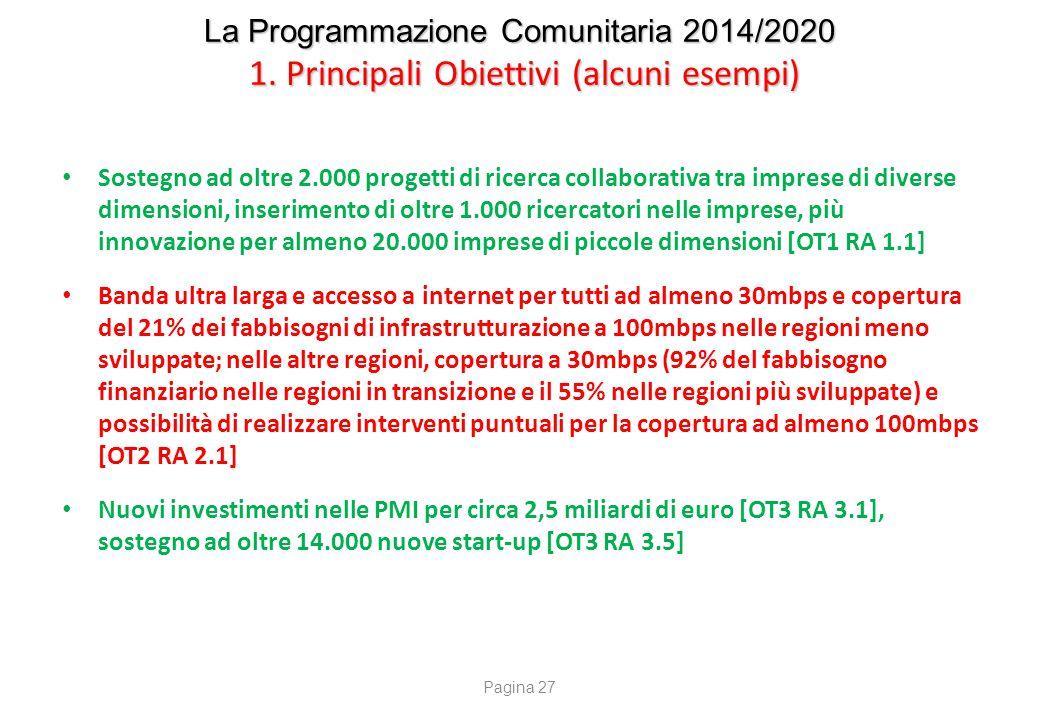La Programmazione Comunitaria 2014/2020 2