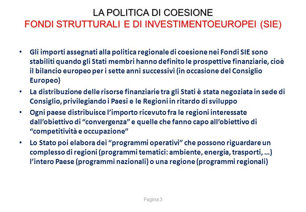LA POLITICA DI COESIONE AUTORITA' DI GESTIONE