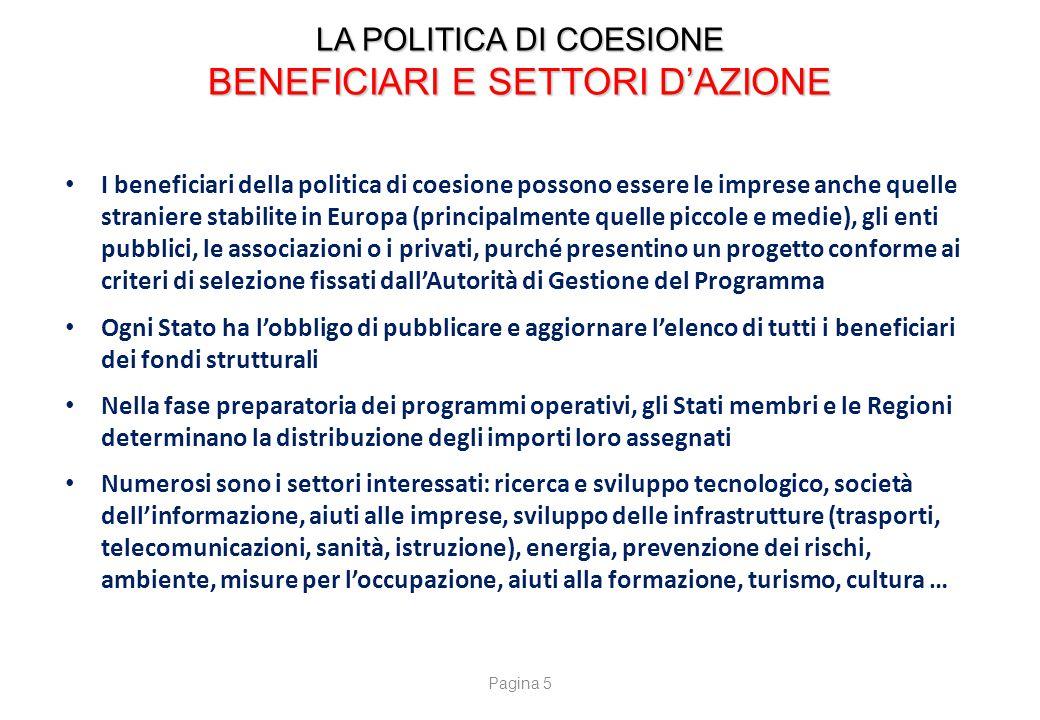 LA POLITICA DI COESIONE CONTROLLI E LOTTA CONTRO LE FRODI