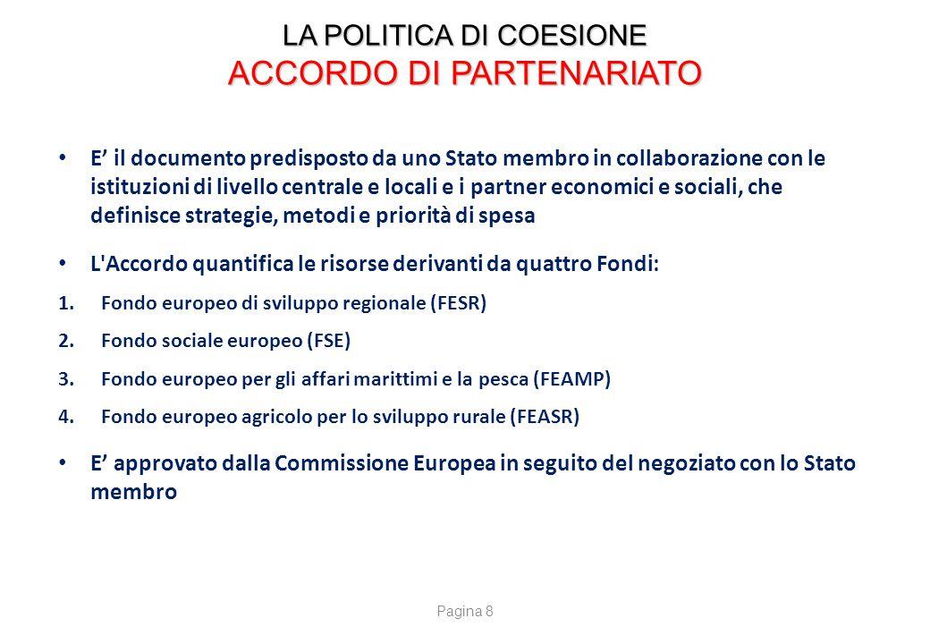LA POLITICA DI COESIONE Programmi di Cooperazione Territoriale Europea