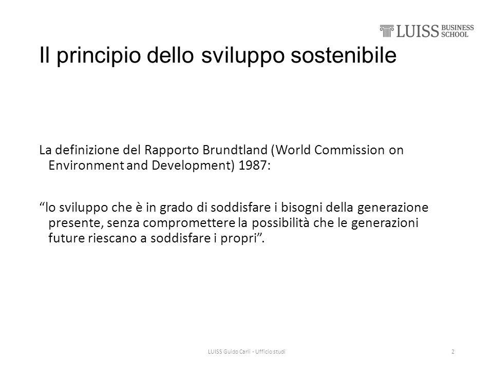 Il principio dello sviluppo sostenibile