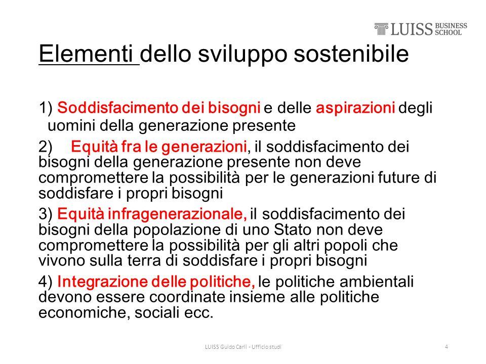 Elementi dello sviluppo sostenibile